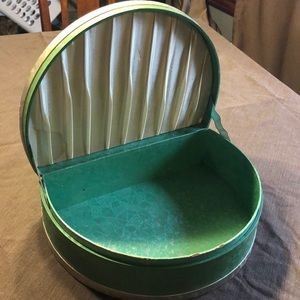 Vintage Mint Green Handkerchief / Glove Box